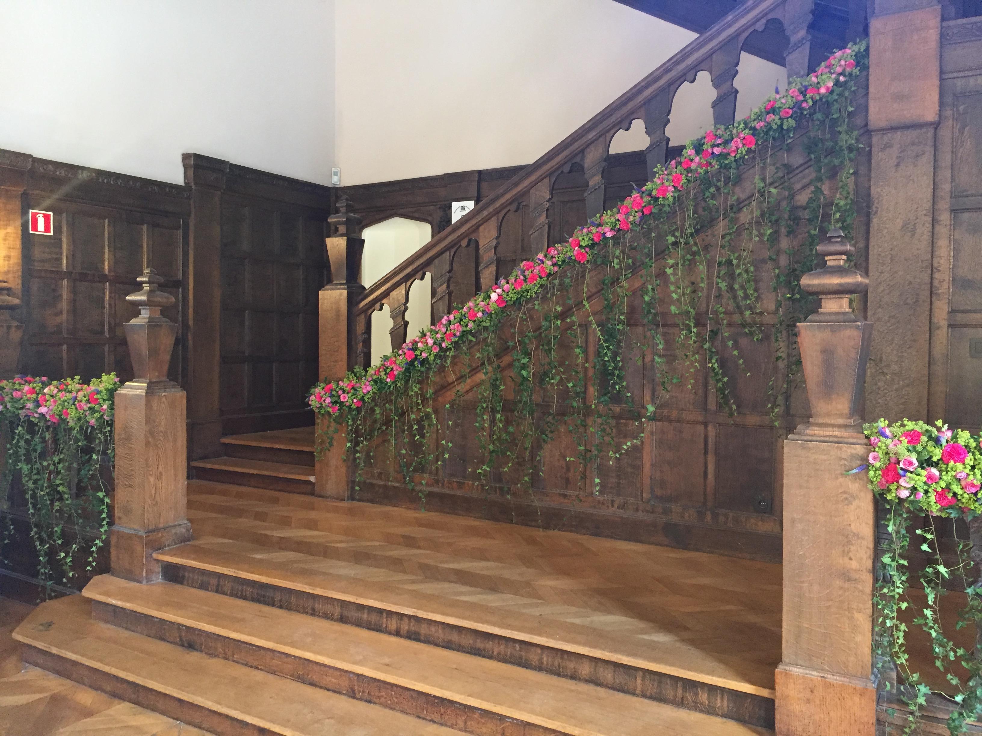 Décoration de la rampe d'escalier